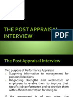 The Post Performance Appraisal Interview