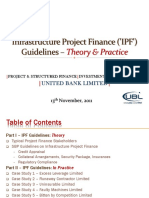 SBP Guidelines on Infrastructure Project Financing and Case Studies