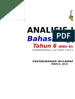 Analisis Item Bulan April 2014