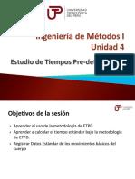 Ingeniería de Métodos I - Semana 12 - Sesión 1-E.T.P.D