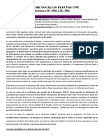 Informe Vocalias docentes electas en el C.P.E.