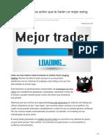 FOREX Consejos de Price Action Que Te Harán Un Mejor Swing Trader