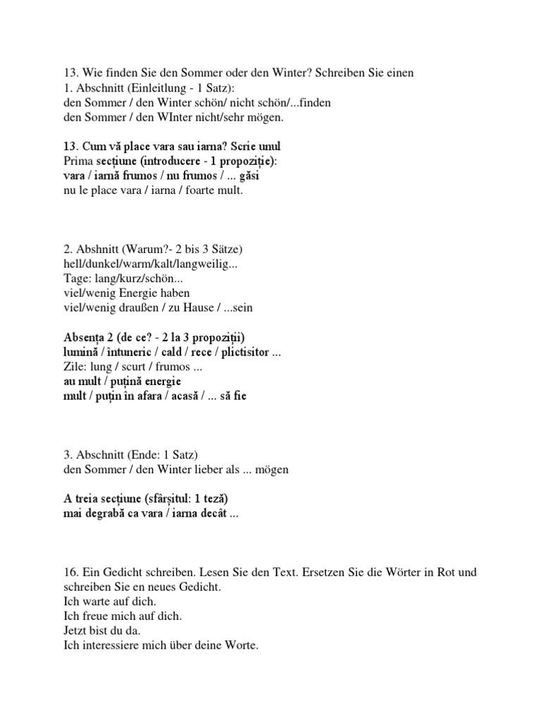 Beste Eine Gedichtvorlage Schreiben Zeitgenössisch - Entry Level ...