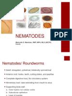 Intestinal Nematodes Maricelle Manlutac