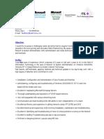 Best IT Resume Format Template