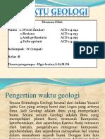 PPT WAKTU GEOLOGI