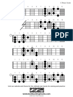 Bbt Bass Scale Blues c