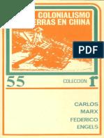 Carlos Marx- Federico Engels Colonialismo y Guerras en China.pdf