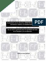 Comentario de la directiva 2000/78/CE de 27 de diciembre relativa al establecimiento de un marco general para la igualdad de trato en el empleo y la ocupación