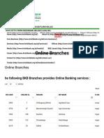 Online Branches - Bangladesh Krishi Bank