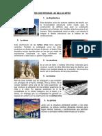 Artes Que Integran Las Bellas Artes, Artes Plasticas