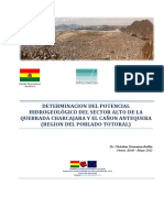 Hidrogeologia de la Cuenca Antequera