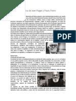 Teoria Pedagogica de Jean Piaget y Paulo Freire