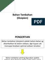 PPT 3. Bahan Tambahan (Eksipien)