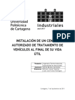 CENTRO AUTORIZADO DE TRATAMIENTO DE VEHÍCULOS AL FINAL DE SU VIDA ÚTIL