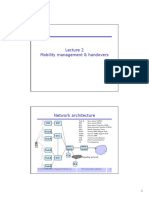 Lecture Mobility Management & Handovers