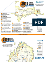 Here's a map of every Michigan construction project in 2018