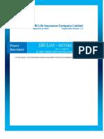 SBI Life Retire Policy Document