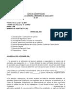 Acta de Constitución Fondo de Empleados