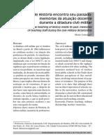 Elaine Lourenço. A história encontra o seu passado, memória docente de professores do período da ditadura militar. rbh.pdf