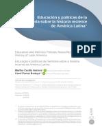 Educacion y Politicas de Memoria en a-L