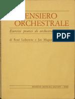 Leibowitz René e Maguire Jan - Il Pensiero Orchestrale, esercizi pratici di orchestrazione - SALVATI BARI 1960