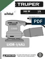 Lijadora Orbital Truper Lior-1-4a2