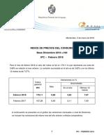 IPC Febrero 2018