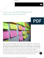 Infedorg Jean Lave, Etienne Wenger and Communities of Practice