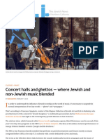 Blending Jewish and Non-Jewish Music in Concert Halls and Ghettos of Old