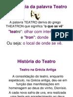 Arte História Do Teatro