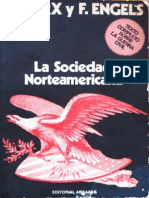 C Marx y F Engels La Sociedad Norteamericana