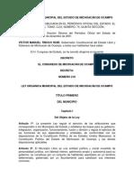 Ley Orgánica Municipal Del Estado de Michoacán
