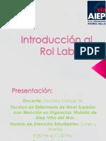 Introducción Al Rol Laboral Clase1