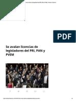 28-02-18 Se Avalan Licencias de Legisladores Del PRI, PAN y PVEM - Noticias Chihuahua