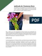Origen y Significado de las Flores