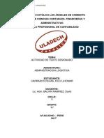 Administracion Logistica_carrasco Rojas Felix Jhomar_actividad de Texto Designado_2017