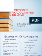 Thanking and Apologizing Expression