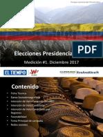 Intención de Voto Para Presidencia 2018 Primera Medición EcoAnalítica y Guarumo Para El Tiempo y La W