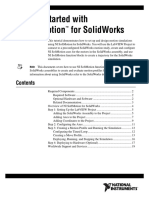 motion simulations using NI SoftMotion for SolidWorks