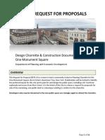 RFP-Design Charette-One Monument Square
