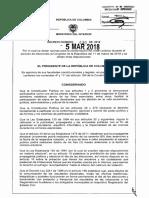 Decreto 430 Del 05 Marzo de 2018