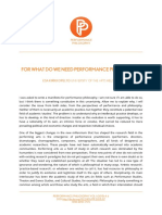 For What Do We Need Performance Philosophy?