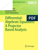 Differential-Algebraic Equations a Projection Analysis