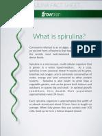 Spirulina Fact Sheet