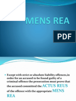 Mens Rea Intention