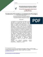 Aragon Fundamentos Psicométricos en La Evaluación Psicológica
