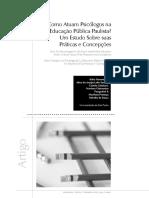 Como Atuam Psicologos Na Educação Publica Paulistana