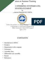 187558054 Industrial Training Presentation on Training at Sona Koyo Steering System Ltd