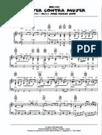 Partitura - Mecano - Mujer Contra Mujer (Piano Single)